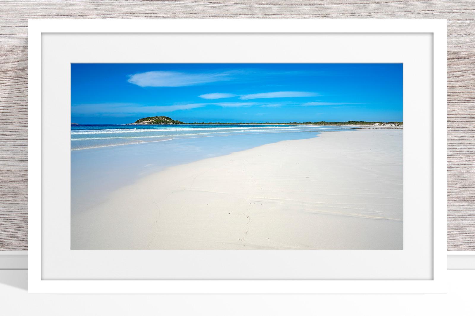 009 - Jason Mazur - 'Cape Le Grand Beachscape' White Frame