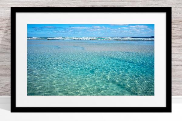 002 - Jason Mazur - 'Crystal Clear Waters, Esperance' Black Frame