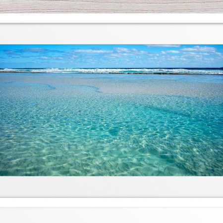 002 - Jason Mazur - 'Crystal Clear Waters, Esperance' White Frame