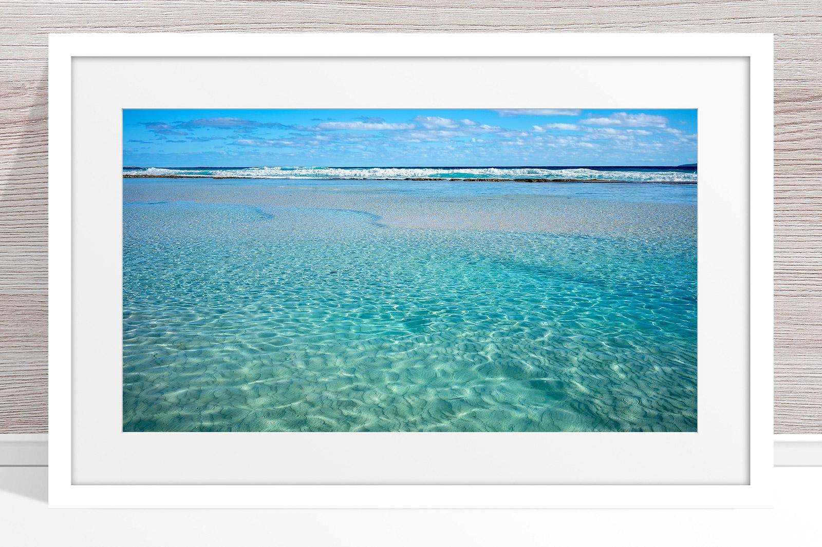 002 - Jason Mazur - 'Crystal Clear Waters, Esperance' White Frame