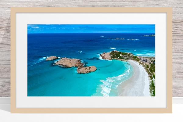 011 - Jason Mazur - 'Twilight Beach Aerial, Esperance' Light Frame