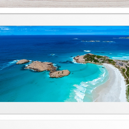 011 - Jason Mazur - 'Twilight Beach Aerial, Esperance' White Frame