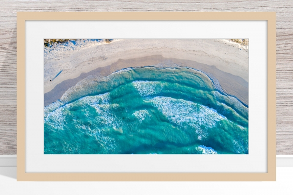 014 - Jason Mazur - 'Twilight Beach Aerial, Esperance' Light Frame