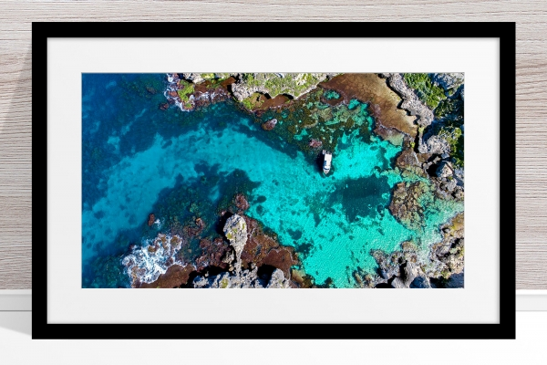 056 - Jason Mazur - 'Fish Hook Bay' Black Frame