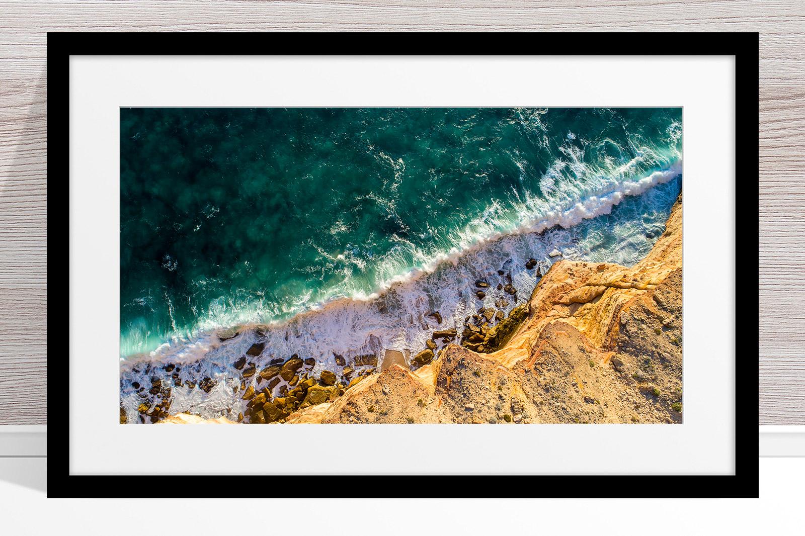 007 - Jason Mazur - Kalbarri Coastline' Black Frame