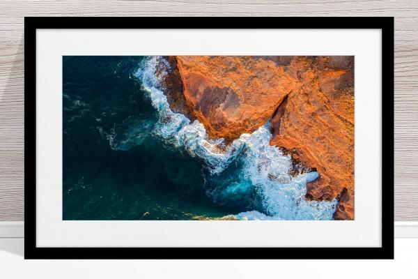 008 - Jason Mazur - 'Kalbarri Coastline' Black Frame