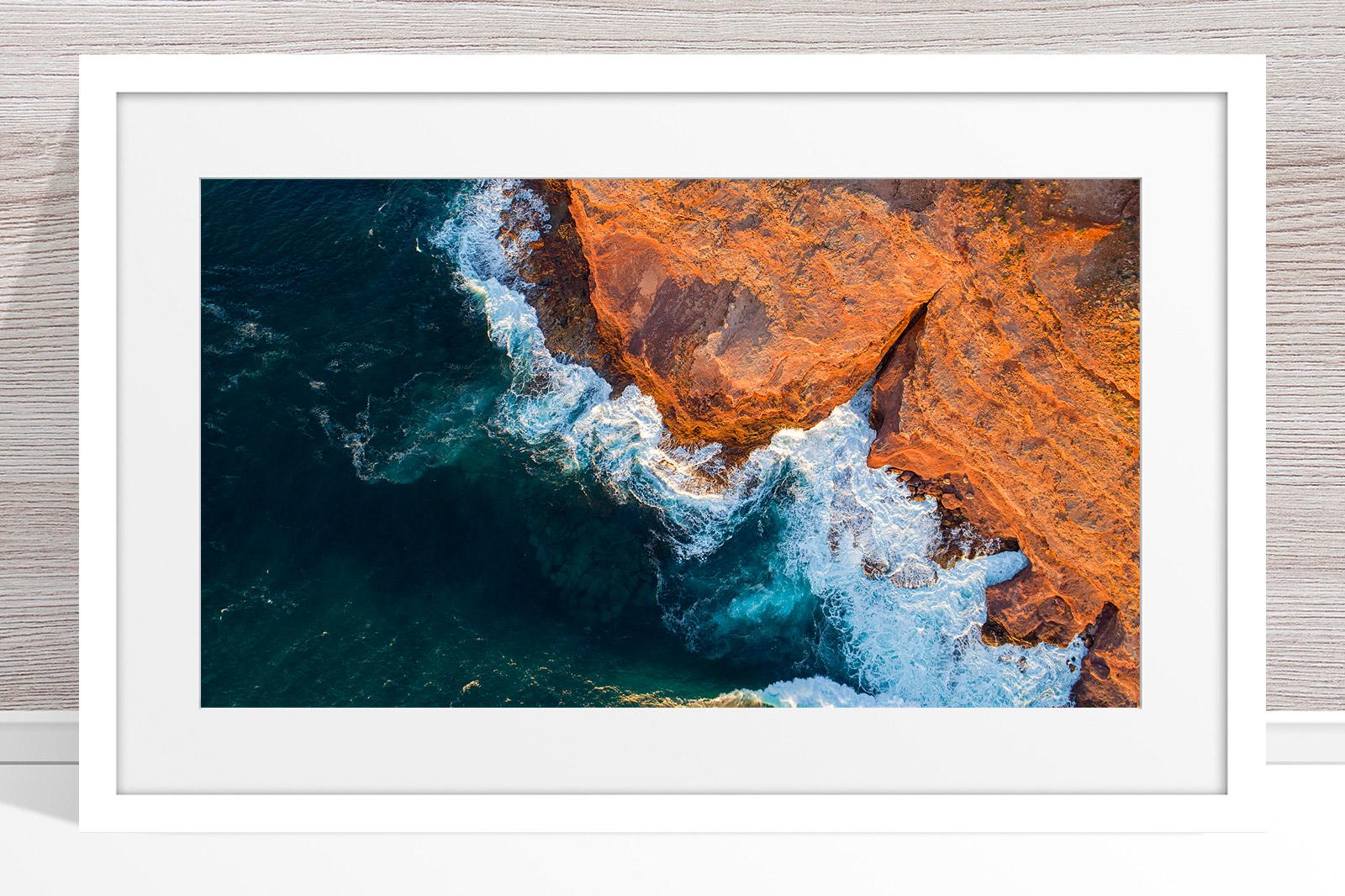 008 - Jason Mazur - 'Kalbarri Coastline' White Frame
