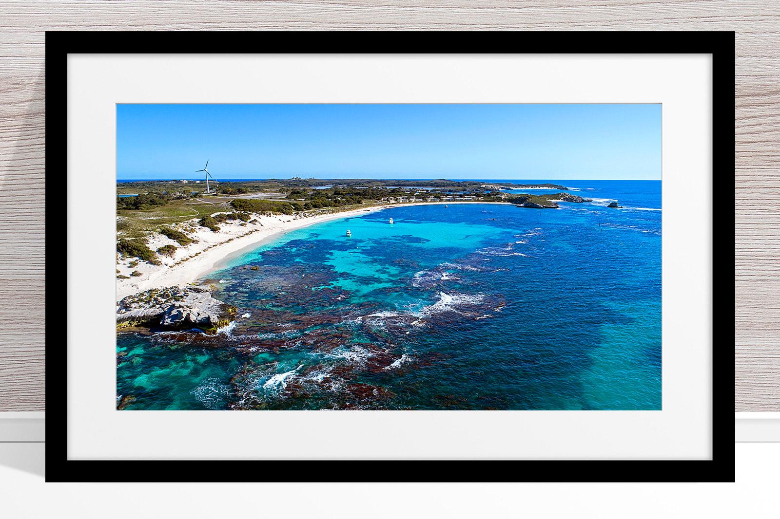 Jason Mazur - 'Longreach Bay, Rottnest' 063 Black Frame