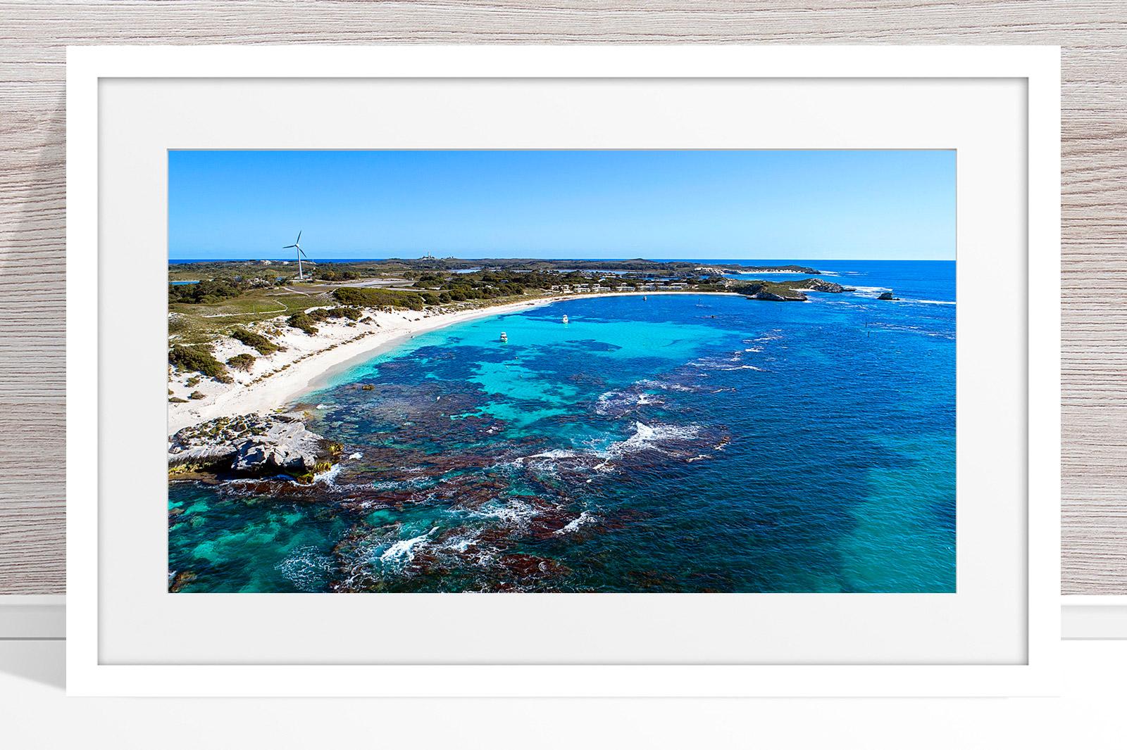Jason Mazur - 'Longreach Bay, Rottnest' 063 White Frame