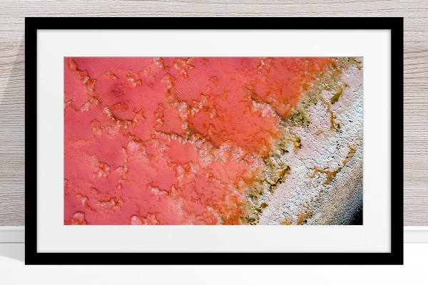002 - Jason Mazur - 'Pink Lake, Port Gregory' Black Frame