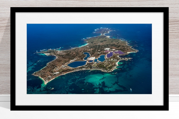 Jason Mazur - 'Rottnest Island From Above - 003' Black Frame