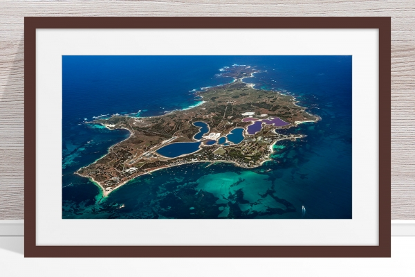 Jason Mazur - 'Rottnest Island From Above - 003' Dark Wood Frame