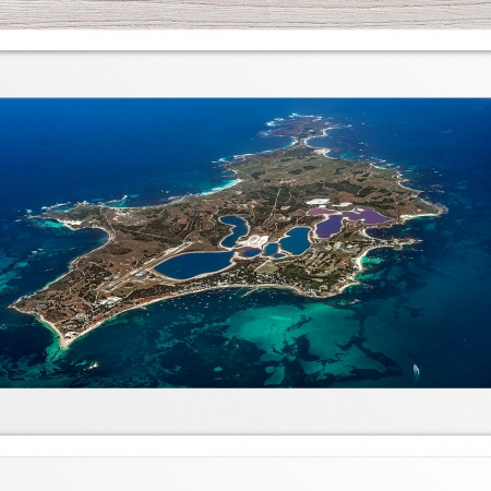 Jason Mazur - 'Rottnest Island From Above - 003' White Frame