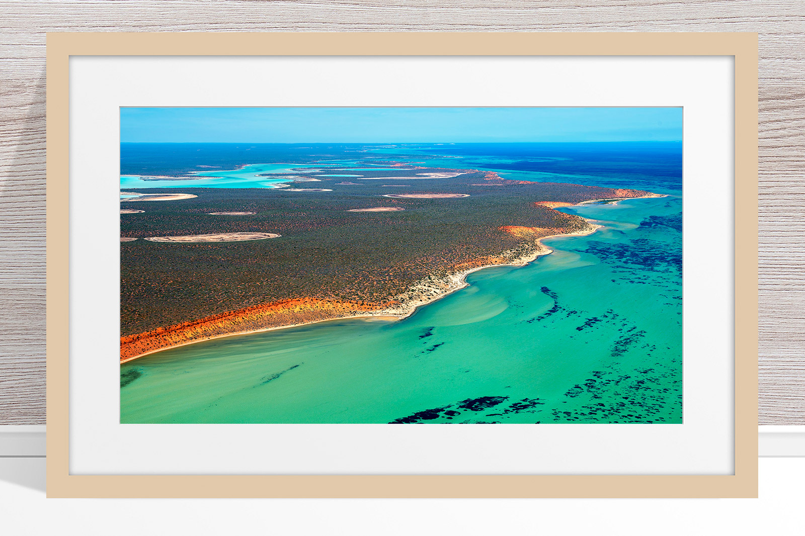 008 - Jason Mazur - 'Shark Bay Coastline' Light Frame