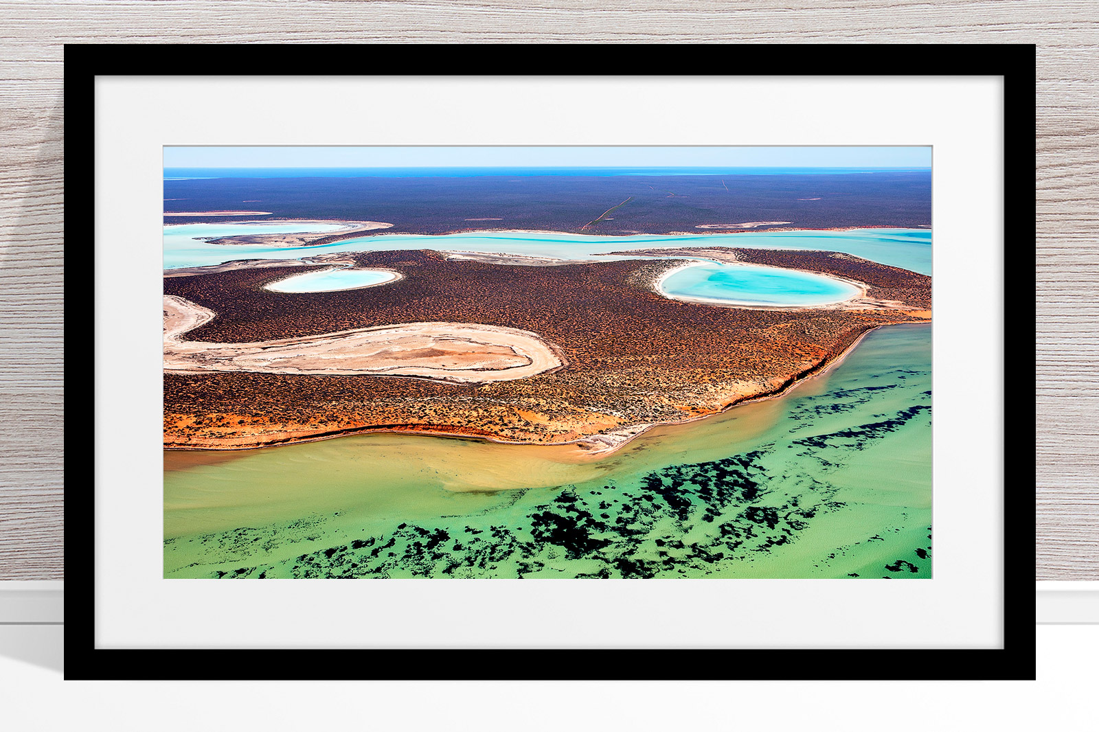 019 - Jason Mazur - 'Big Lagoon, Shark Bay' Black Frame