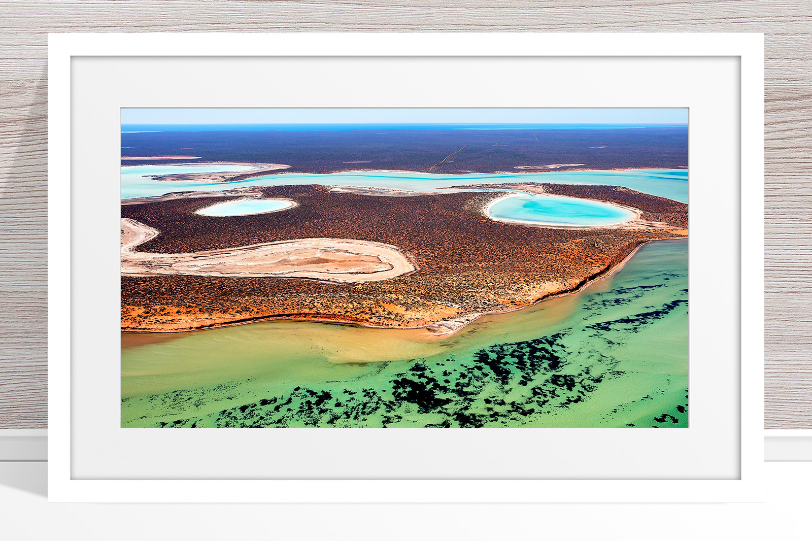 019 - Jason Mazur - 'Big Lagoon, Shark Bay' White Frame