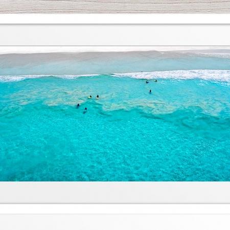 005 - Jason Mazur - 'Surfers Aerial, Esperance' White Frame