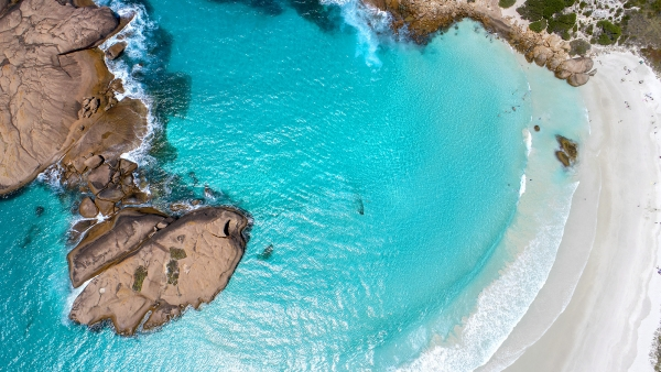 013 - Jason Mazur - 'Twilight Beach Aerial, Esperance'