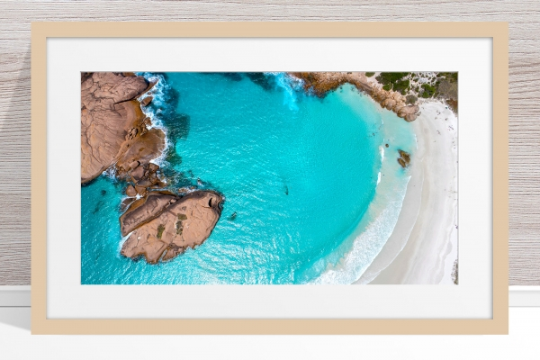 013 - Jason Mazur - 'Twilight Beach Aerial, Esperance' Light Frame