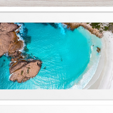 013 - Jason Mazur - 'Twilight Beach Aerial, Esperance' White Frame