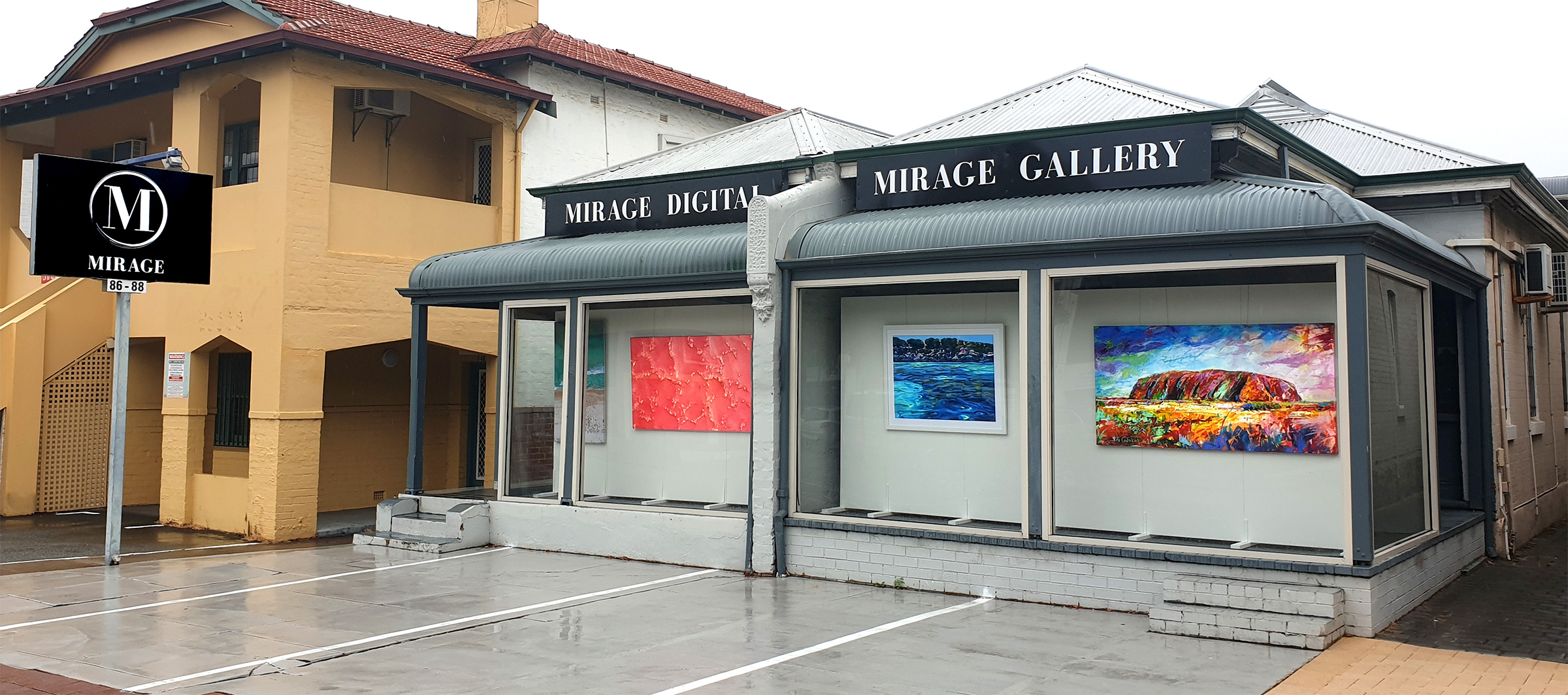 Mirage Gallery External at 45 Angle