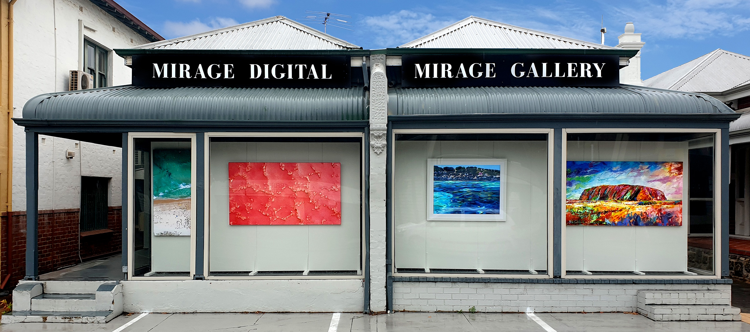 Mirage Gallery Shop Front Display