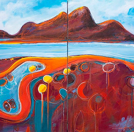 Tania Chanter- 'Meandering Coastal Road' Diptych