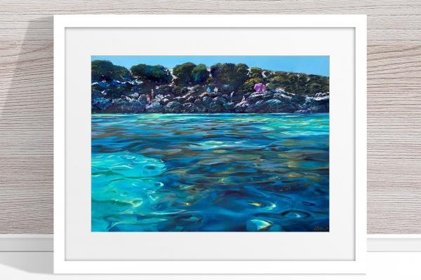 Greg Baker - 'The Lagoon, Little Salmon Bay' Framed
