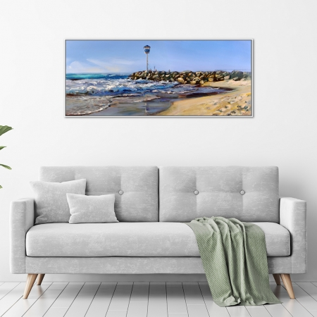 Greg Baker - 'Changing of the Season, City Beach' Framed in a room