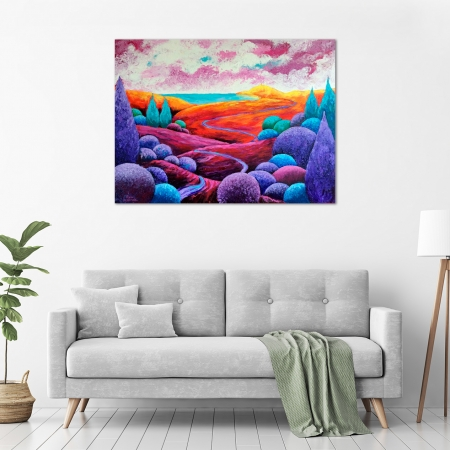Diane McDonald - 'Byron Bay of Colours' in a room