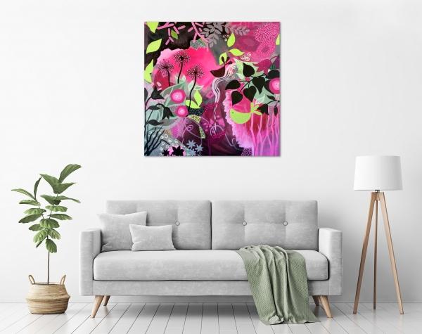 Diane McDonald - 'Floral Fantasy' in a room