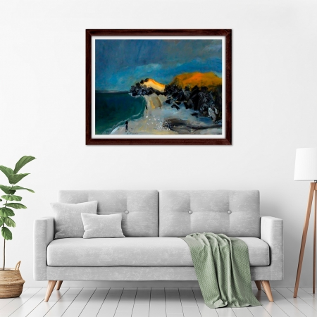 Glenn Brady - 'Beach NSW' Framed in a room