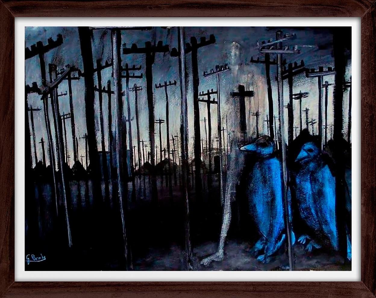 Glenn Brady - 'Blue Birds' Framed