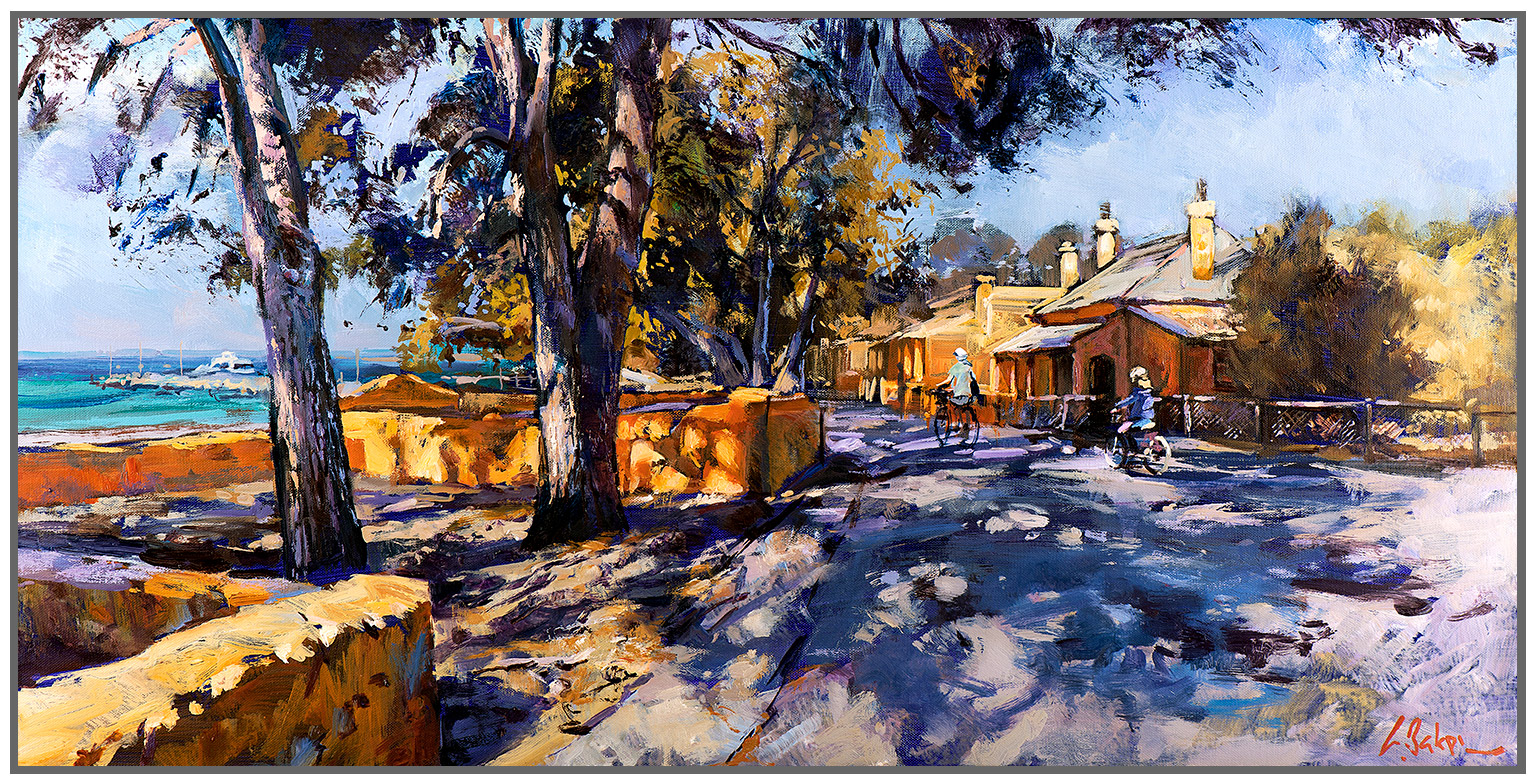 Greg Baker - 'One Sunday Morning, Rottnest' Framed