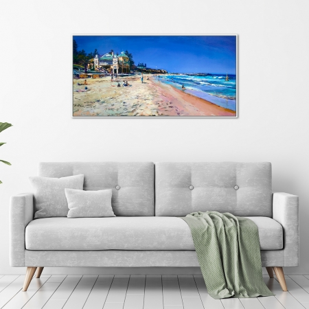 Greg Baker - 'Summer Beach, Cottesloe' Framed, in a room
