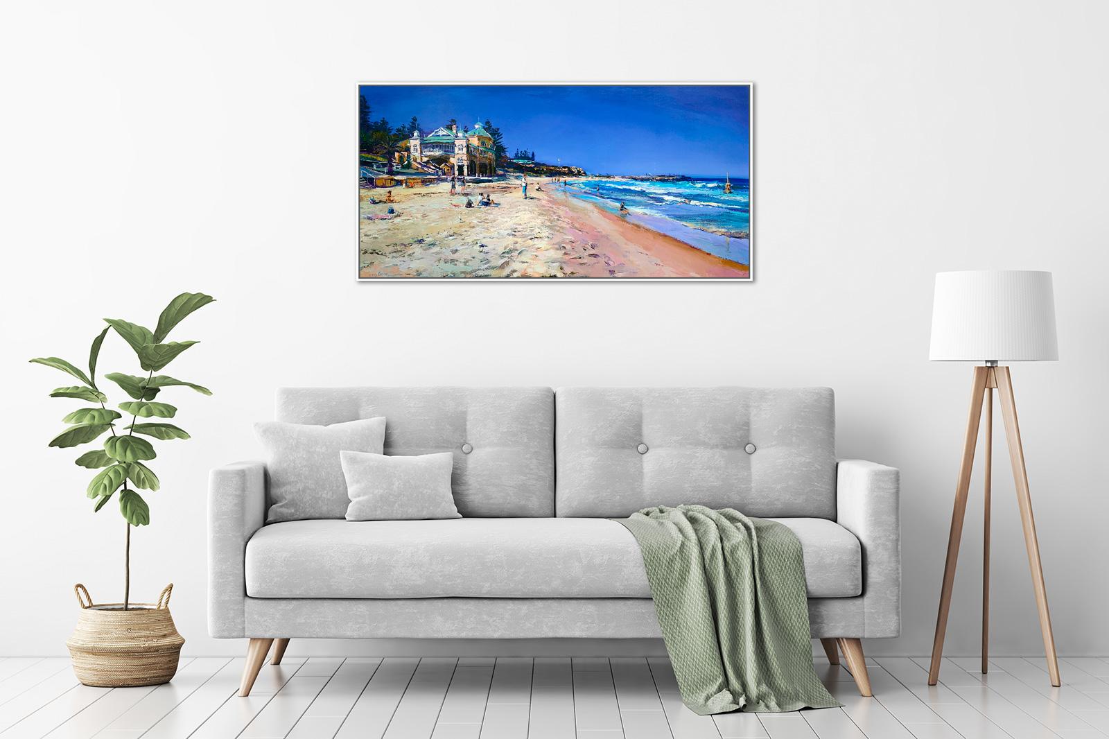 Greg Baker - 'Summer Beach, Cottesloe' Framed, in a room