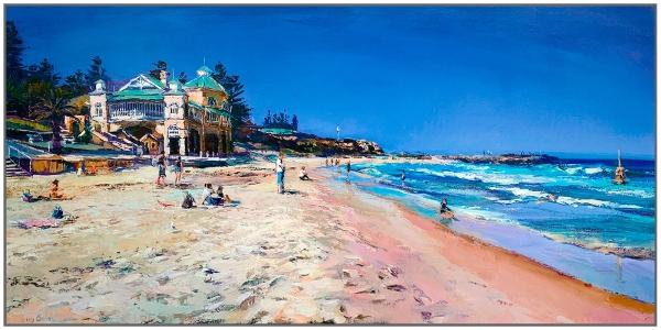 Greg Baker - 'Summer Beach, Cottesloe' Framed