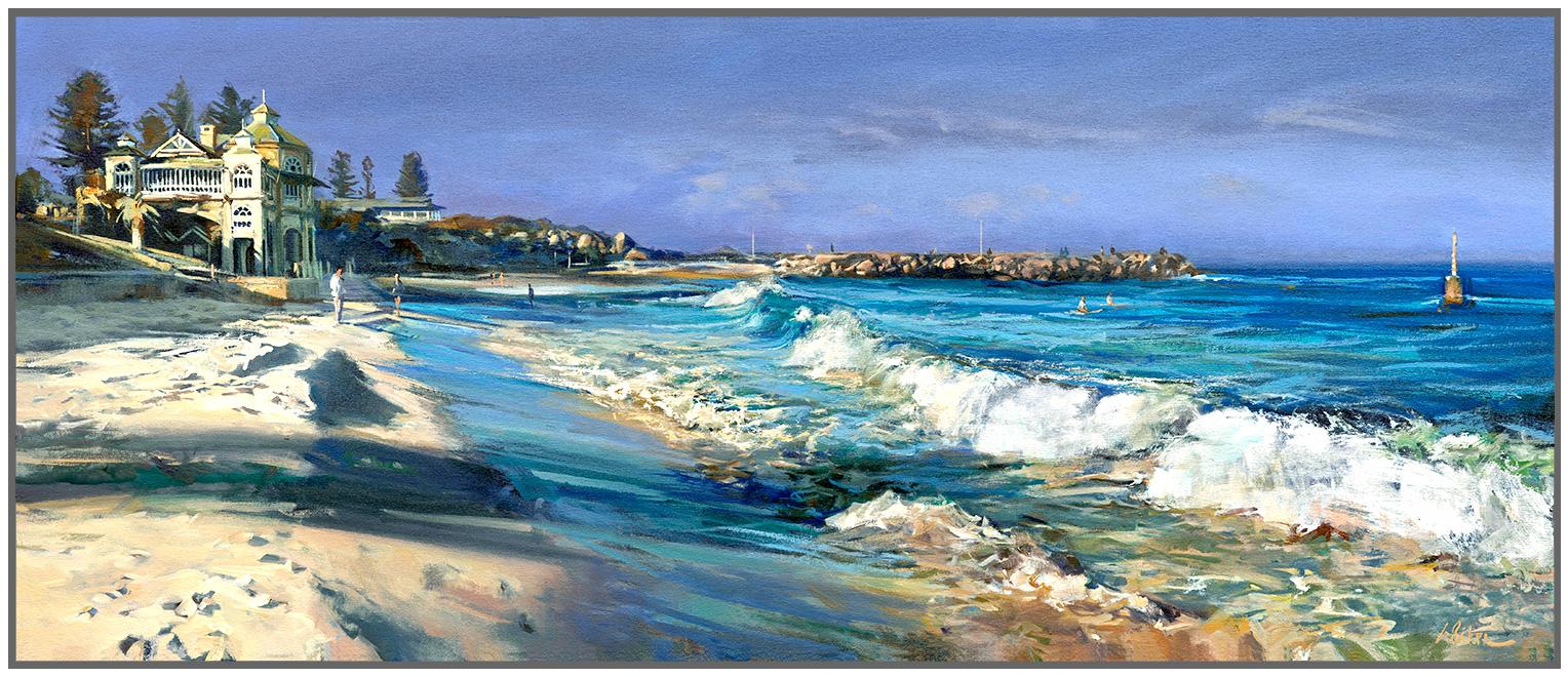 Greg Baker - 'Winter Beach, Cottesloe' Framed
