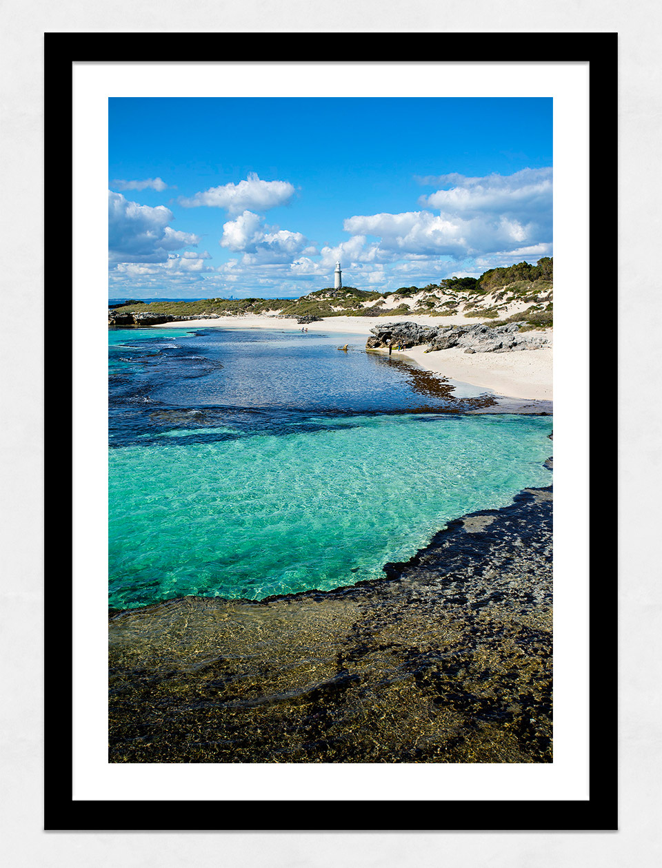 Jason Mazur - 'The Basin, Rottnest Island 033' Black Frame