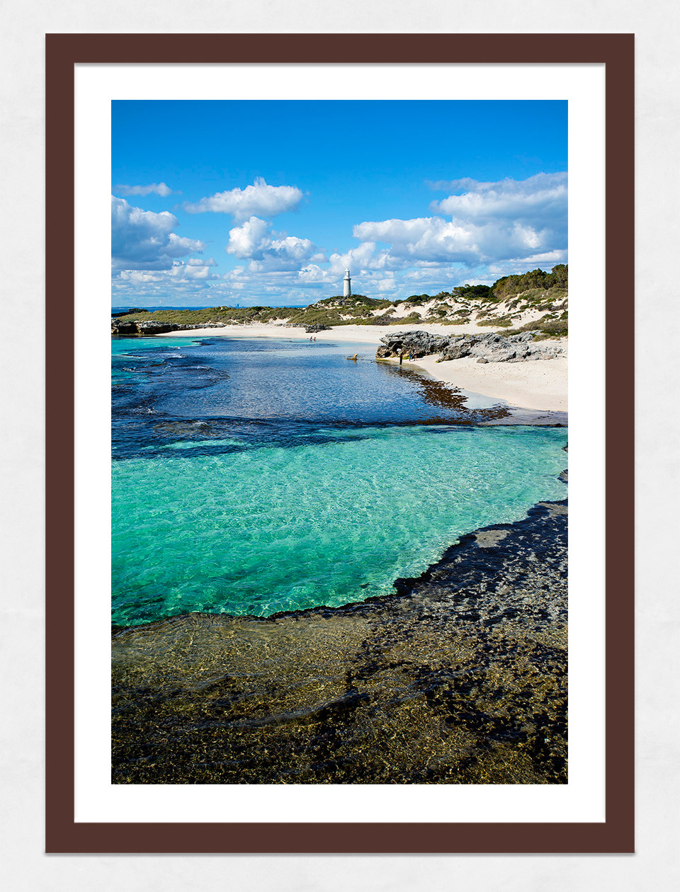 Jason Mazur - 'The Basin, Rottnest Island 033' Dark Wood Frame