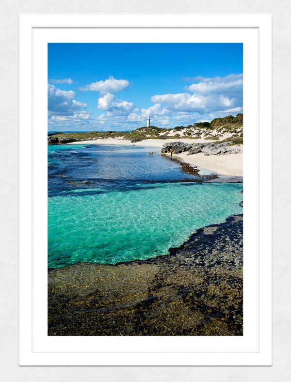 Jason Mazur - 'The Basin, Rottnest Island 033' White Frame