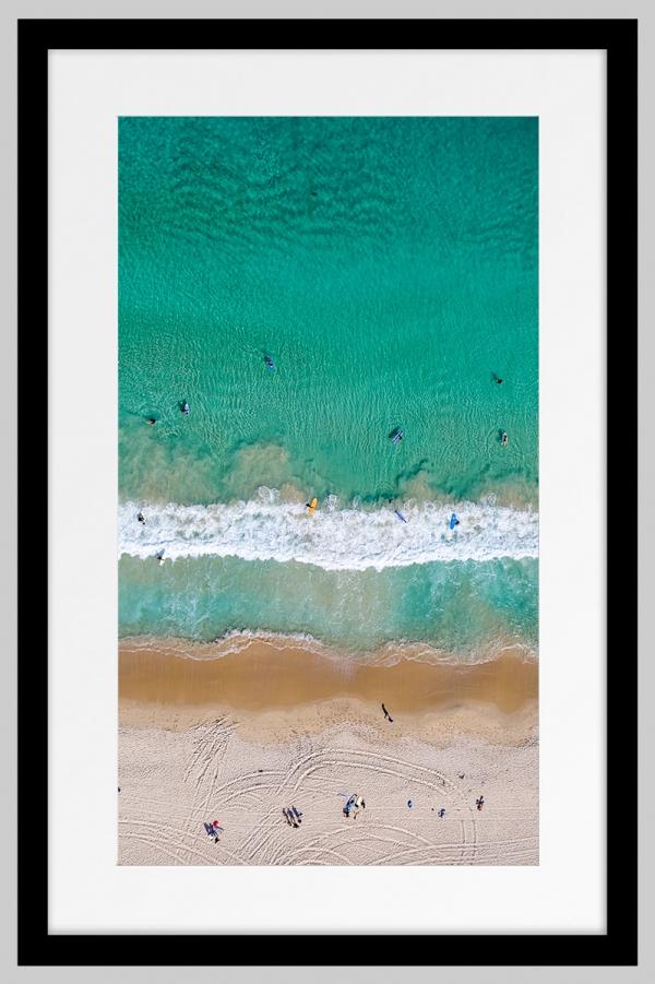 Jason Mazur - 'Contacio Beach, Scarborough 0698' Black Frame