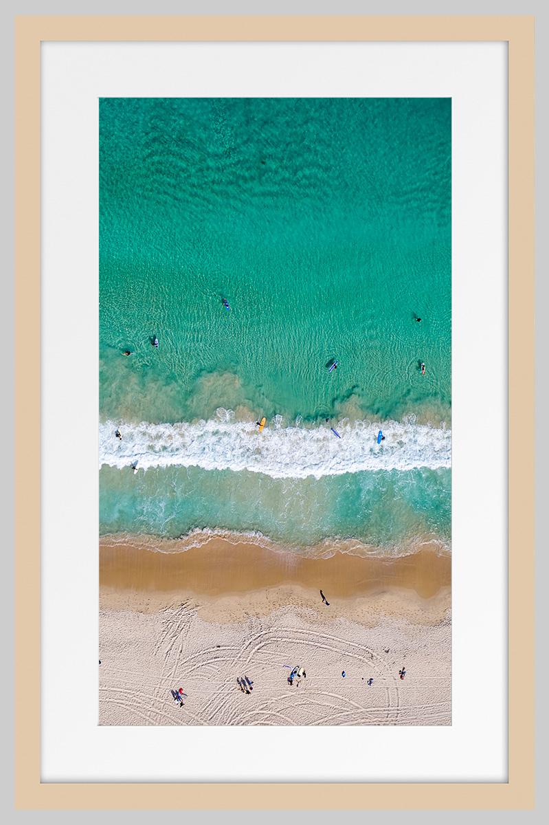 Jason Mazur - 'Contacio Beach, Scarborough 0698' Light Wood Frame