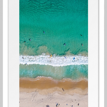 Jason Mazur - 'Contacio Beach, Scarborough 0698' White Frame