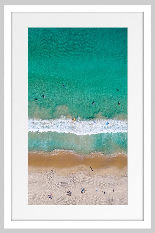 Jason Mazur - 'Contacio Beach, Scarborough 0698' White Frame