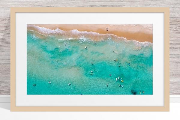 Jason Mazur - 'Contacio Scarborough 0693' Light Wood Frame