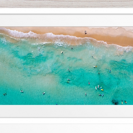 Jason Mazur - 'Contacio Scarborough 0693' White Frame