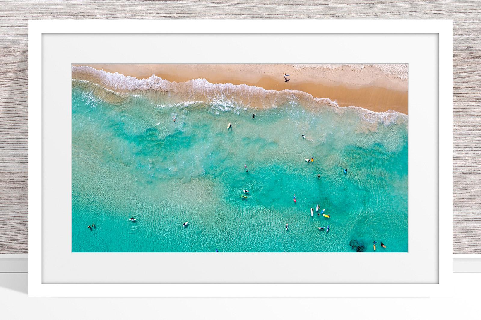 Jason Mazur - 'Contacio Scarborough 0693' White Frame