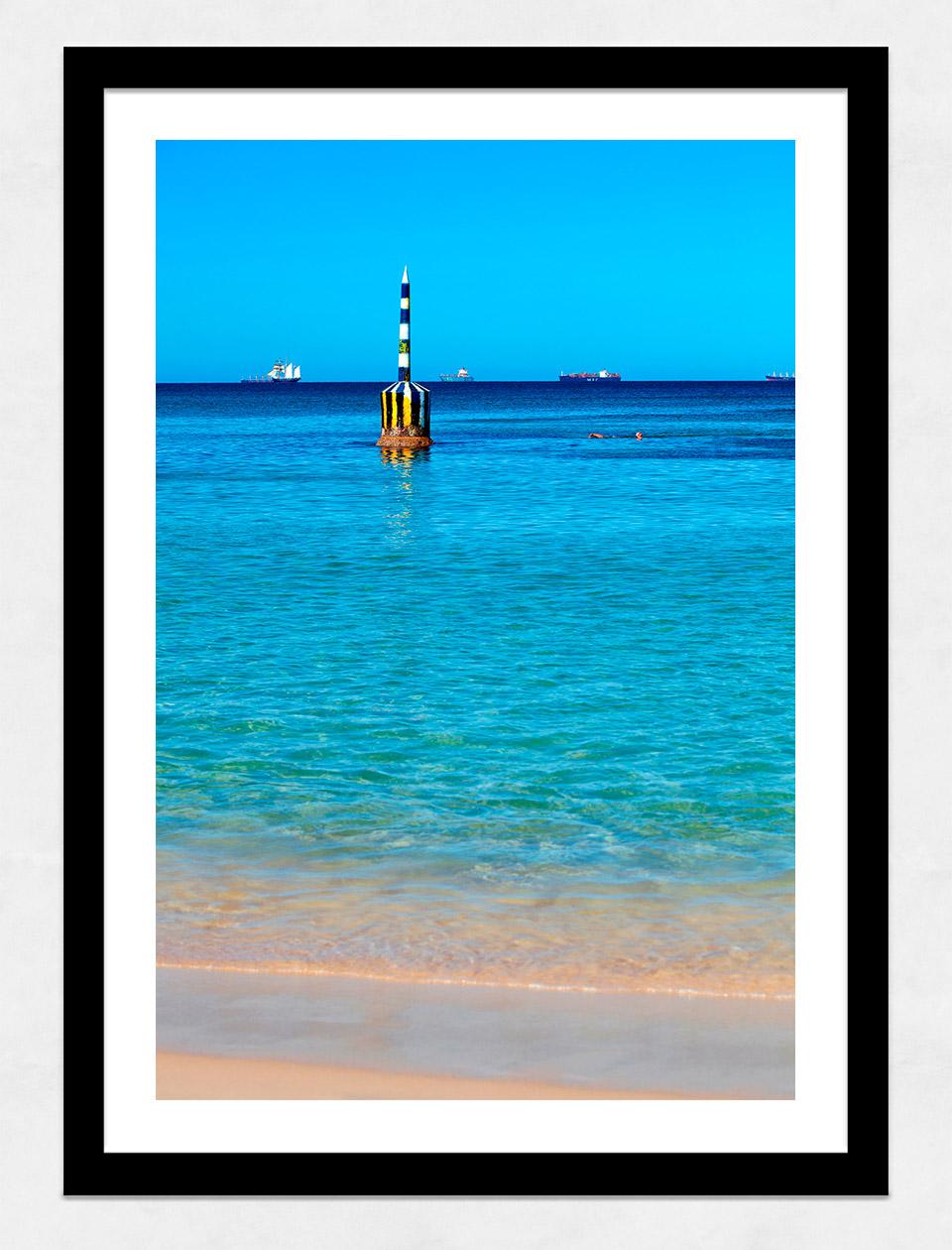 Jason Mazur - 'Cottesloe Beach Pylon 012' Black Frame