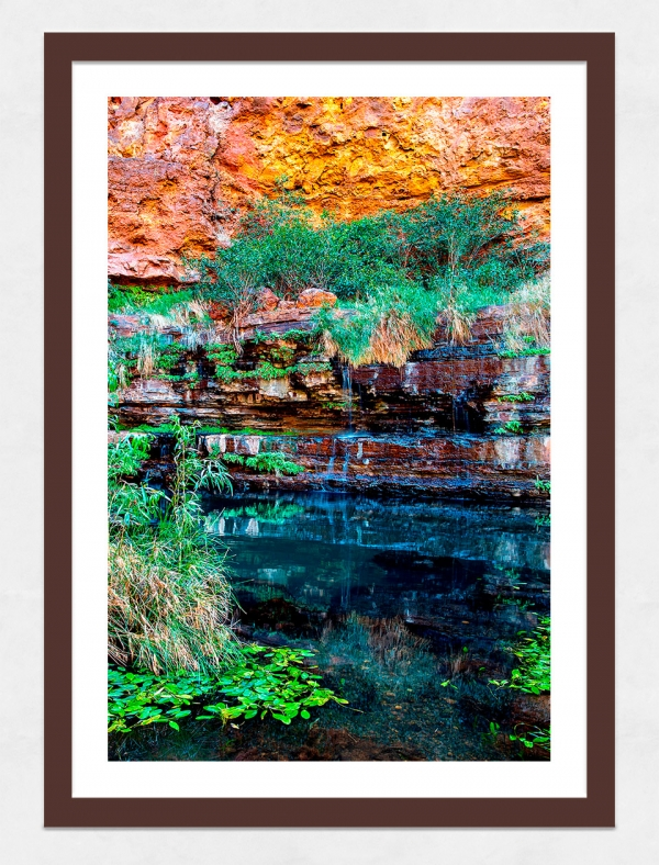 Jason Mazur - 'Circular Pool, Dales Gorge 027' Dark Wood Frame